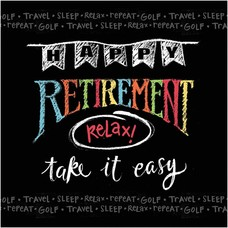 Retirement Chalk Lunch Napkin