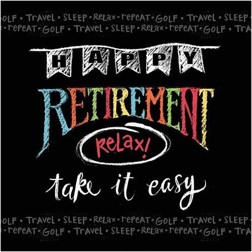 Retirement Chalk Lunch Napkin