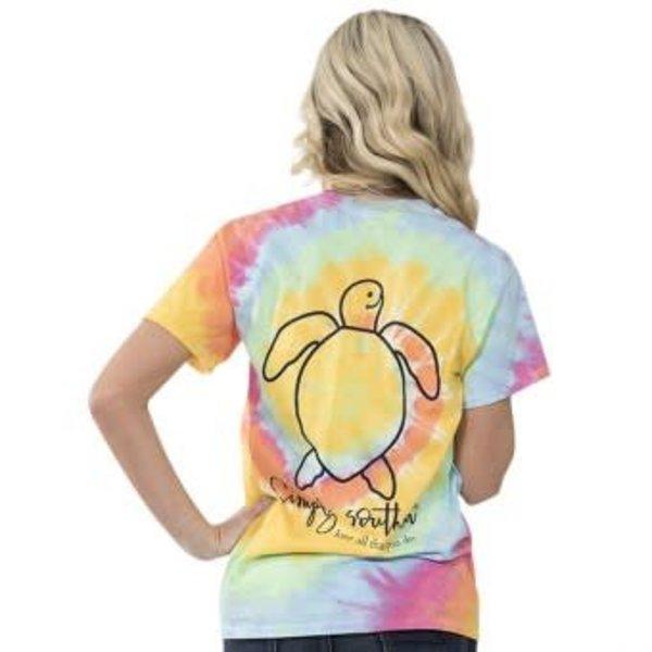 Save the Turtles Logo Tiedye