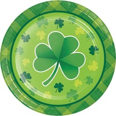 Shamrock Plaid 7in Plate