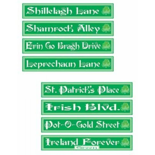St. Pat's Day Street Signs
