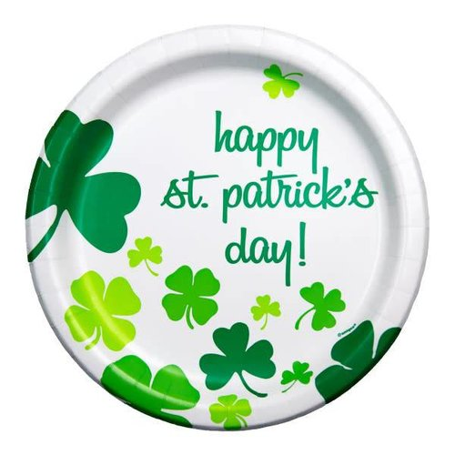 Rainbow Shamrock 9in Plate