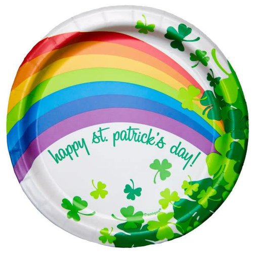 Rainbow Shamrock 7in Plate