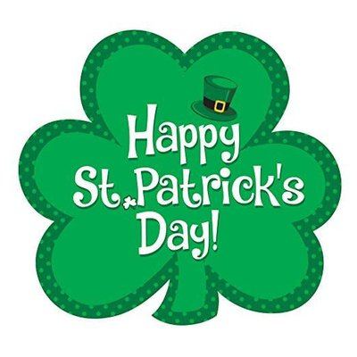 Happy St. Patrick's Day Shamrock Cutout