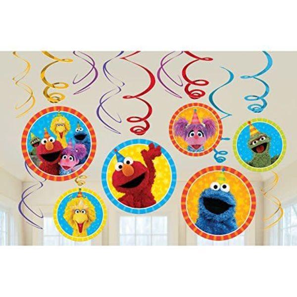 Sesame Street Swirl Decorations