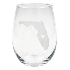About Face Designs Florida State Steamless Wine Glass