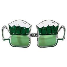 Green Beer Mug Glasses