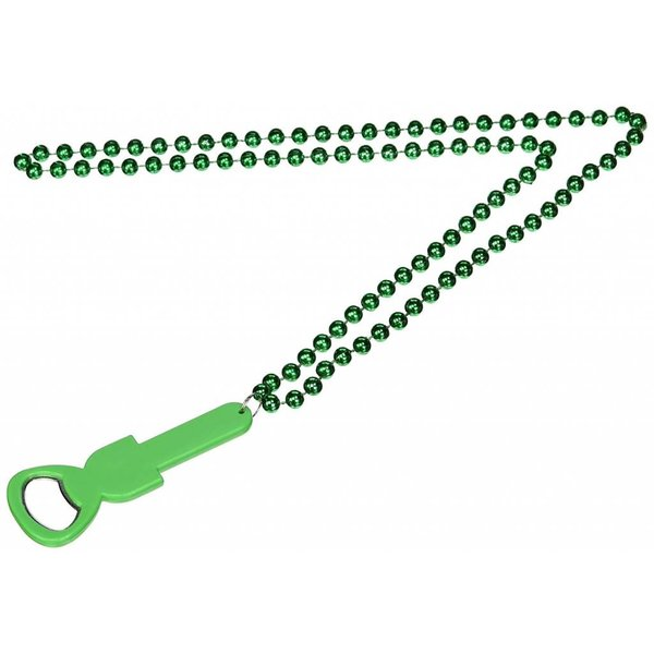 Green bottle opener beads