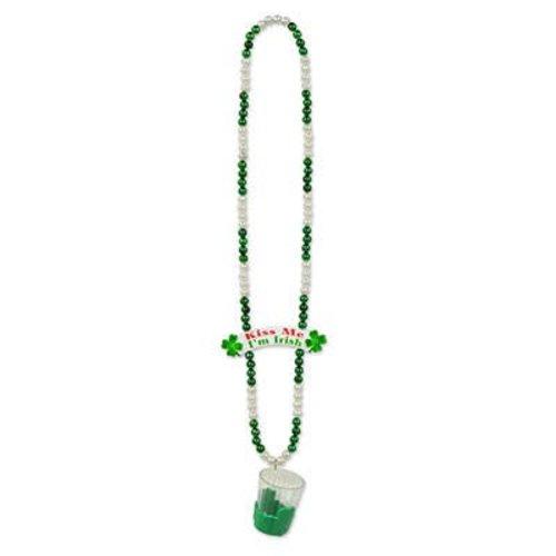 St. Patty's Beads w/Shot Glass