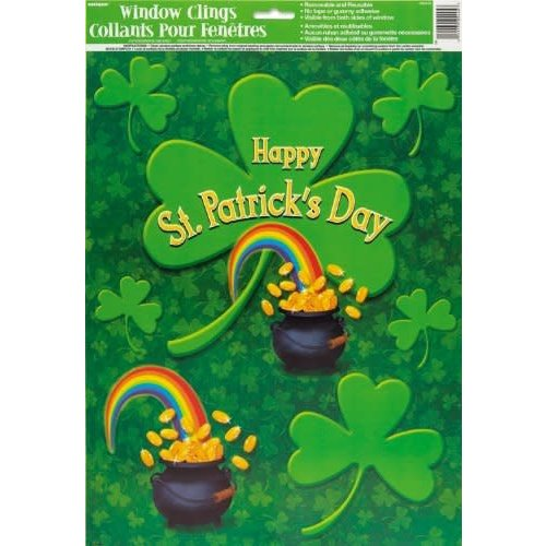 Happy St. Patrick's Day Window Clings