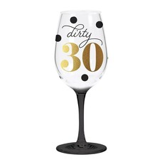 CR Gibson Dirty Thirty Acrylic Wine Glass