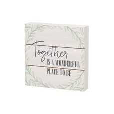 Together is a Wonderful Place to Be Wood Sign