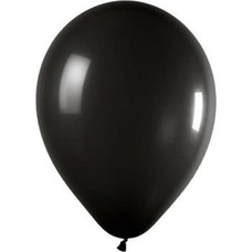 *Jet Black 72ct Latex Balloons