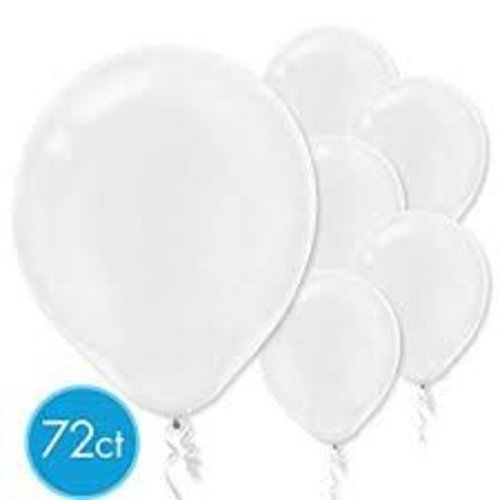 *Clear 72ct  Latex Balloons