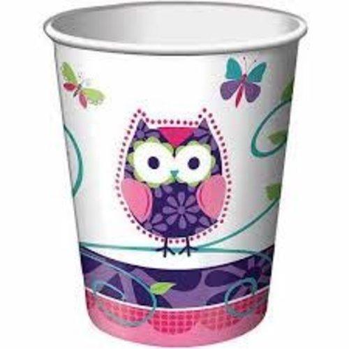 *Owl Pal 9oz Paper Cups