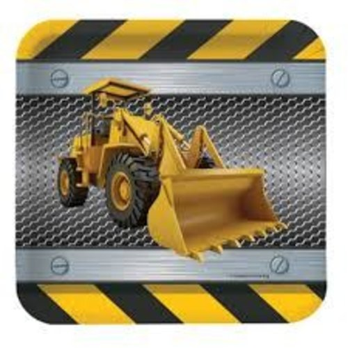 "*Construction Zone 7"" Square Plates"
