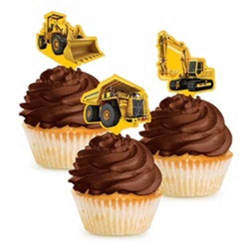 *Construction Zone Cupcake Picks 12ct