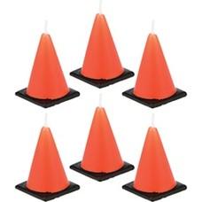 *Construction Zone Orange Cone Candles 6ct