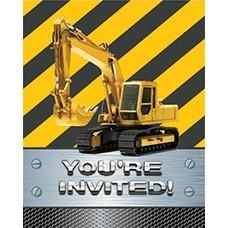 *Construction Zone Foil Invitations 8ct