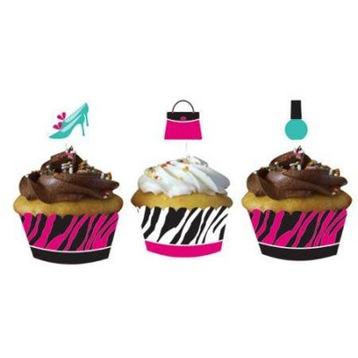 *Pink Zebra Cupcake Wrappers