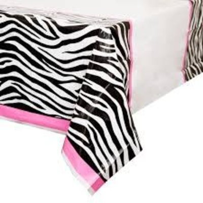 *Zebra Passion Plastic Tablecover