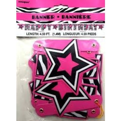 *Zebra Passion Happy Birthday Jointed Banner