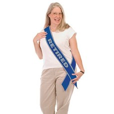 *Retirement Sash Blue & Silver