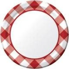 """*Gingham Galore 7"""" Plate 8ct"""