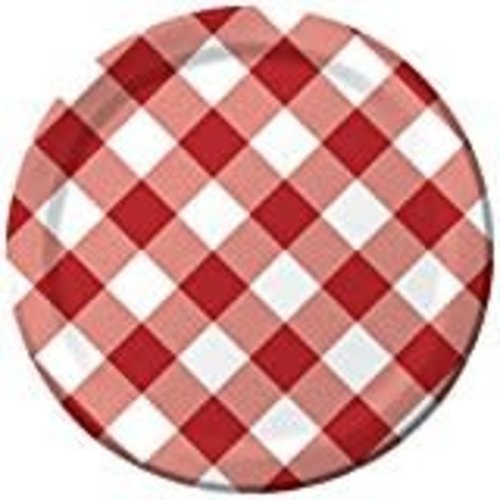 "Gingham Galore 9""  Dinner Plates 8ct"