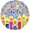 "*Shimmering Birthday Candles 18"" Mylar Balloon"