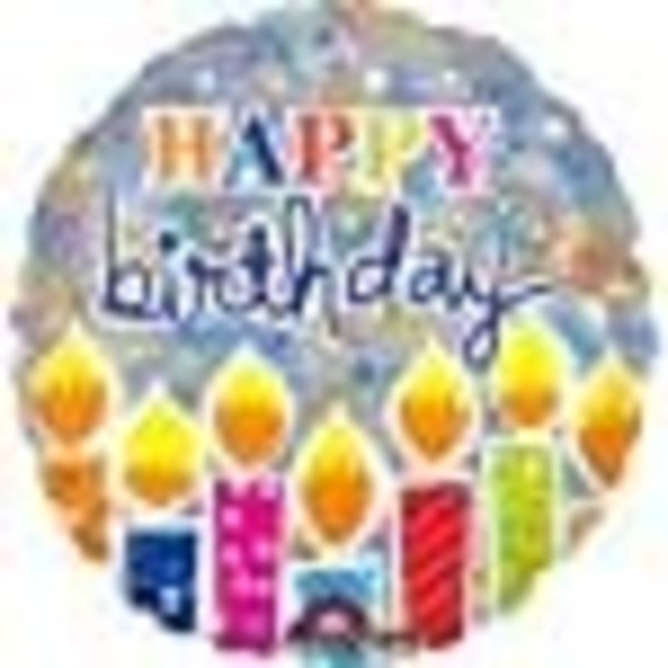 "*Shimmering Birthday Candles 18"" Mylar Balloon"