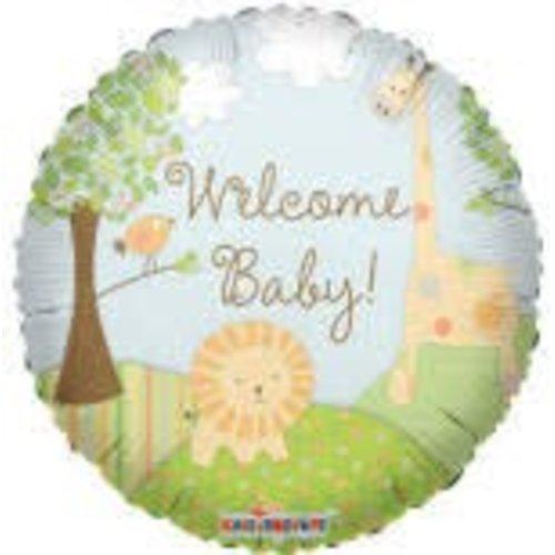 *Welcome Baby Jungle Mylar Balloon