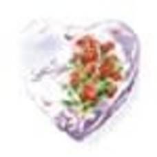 Pioneer Balloon Company *Love Floral Heart Shape Mylar Balloon