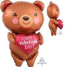*Teddy Bear Valentine  jumbo mylar
