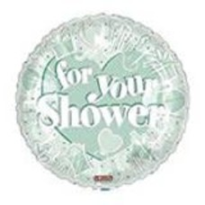 """*FOR YOUR SHOWER Mint Green 18"""" Mylar Balloon"""