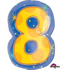 *Number 8 Junior Shape Mylar Balloon