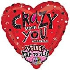 *Crazy About You Valentine singatune balloon