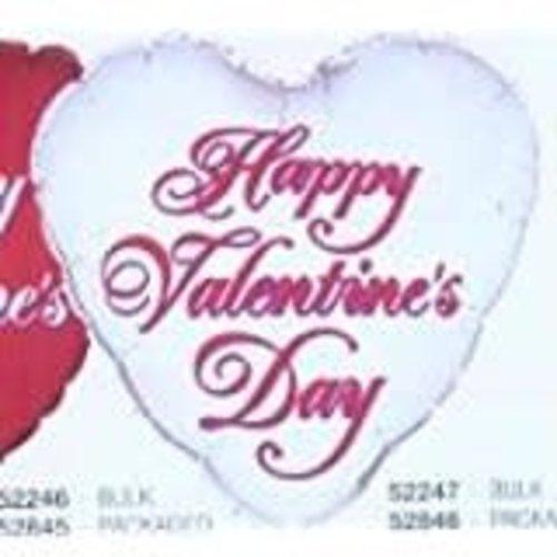 *Silver Happy Valentine Heart Shape Mylar Balloon