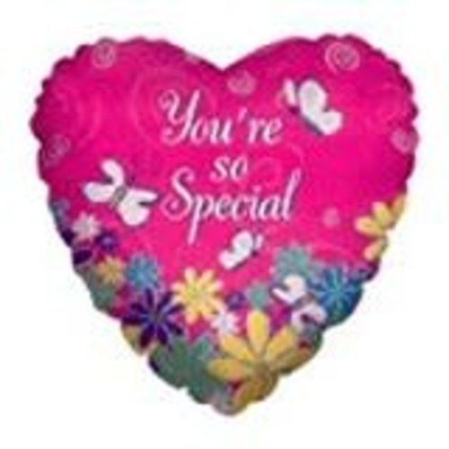 *You're So Special Butterfly Heart Shape Balloon
