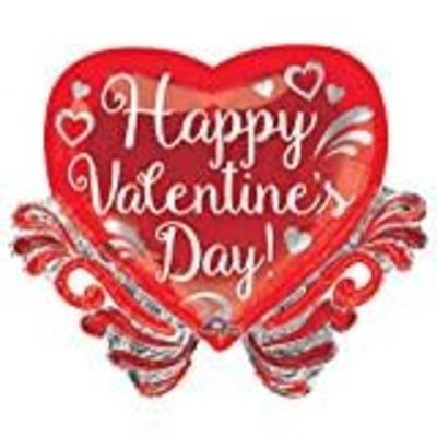 *Fancy Swirls Valentine Jumbo Mylar Balloon
