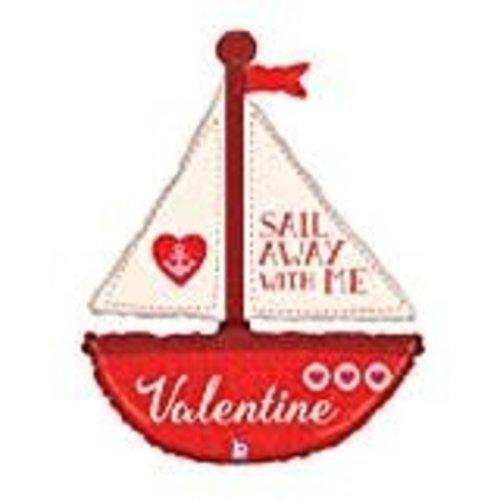 *Sail Away with Me Jumbo Valentine Balloon