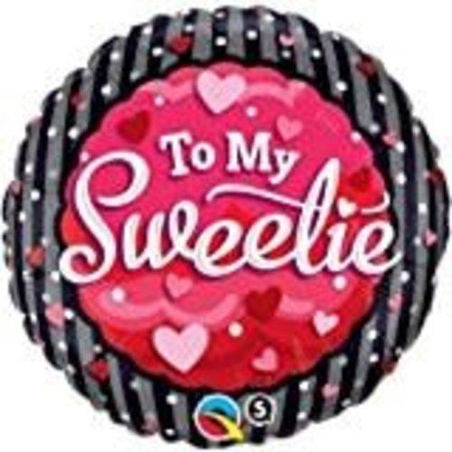 "*To My Sweetie 18"" Mylar Balloon"
