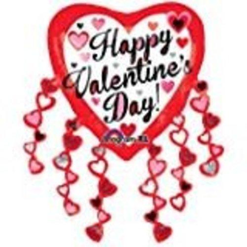 *Valentine Jumbo Streamer Mylar Balloon