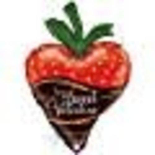 *Chocolate Dipped Strawberry Jumbo Valentine Mylar Balloon