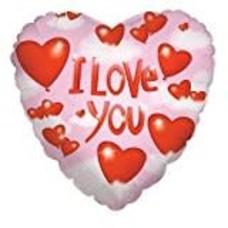 *Hearts and Clouds Love Heart Shape Mylar Balloon