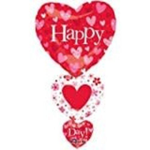 *Cascading Hearts Valentine Mylar Balloon