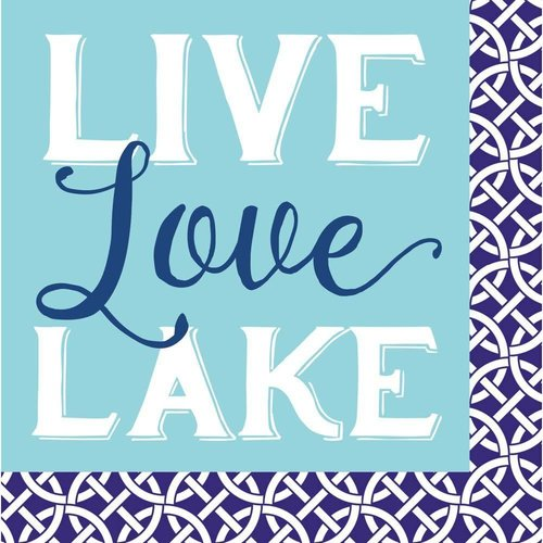Live, Love, Lake Beverage Napkin
