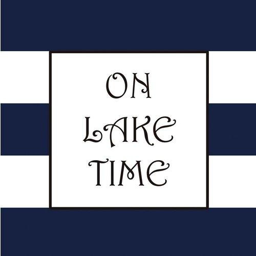 On Lake Time Beverage Napkin