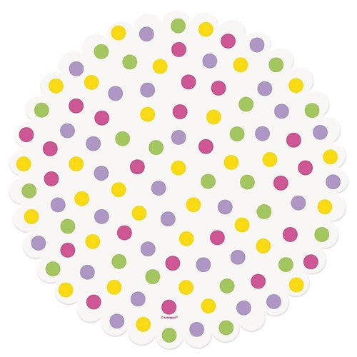 Bright Polka Dot Doilies