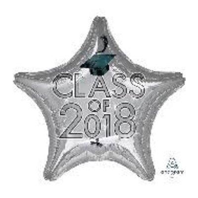 *Class of 2018 Silver Star Graduation Mylar Balloon